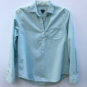 J. Crew striped 1/2 button down collared shirt 279